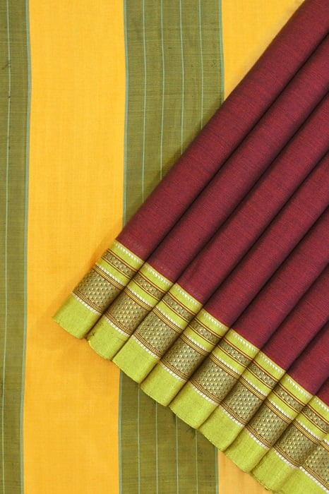 Ilkal Maroon Cotton-Silk Saree Online 1