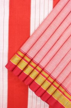 Ilkal Pink Cotton-Silk Saree Online 1