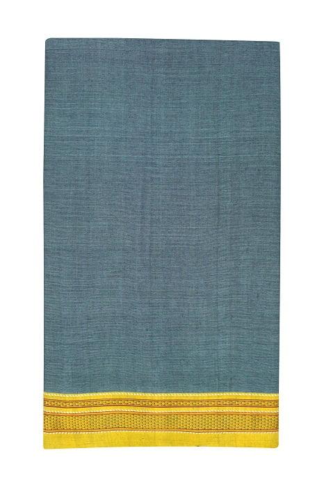 Ilkal Sky Blue Cotton-Silk Saree Online 5