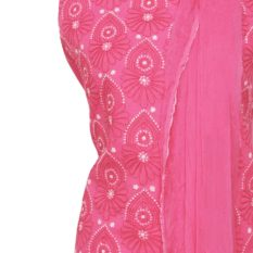 Lucknow Chikankari Pink Cotton Dress Material Set 1