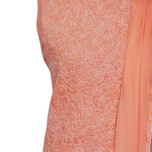 Lucknow Chikankari Sand Pink Cotton Dress Material 1