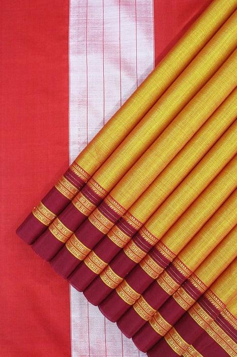 Traditional Ilkal Cotton-Silk Saree Online 1