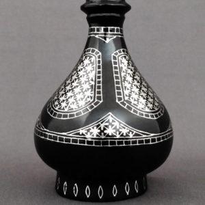 Bidriware Silver Inlay Antique Flower Vase 2