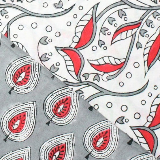 Farrukhabad Hand Block Print Cotton Dress Material Set 2C