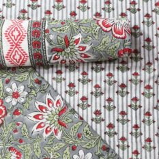 Farrukhabad Hand Block Print Cotton Dress Material Set 3B