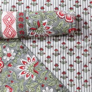 Farrukhabad Hand Block Print Cotton Dress Material Set 3B