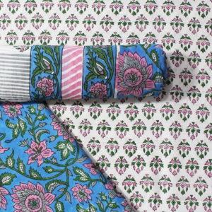 Farrukhabad Hand Block Print Cotton Dress Material Set 4B
