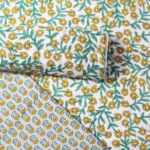 Farrukhabad Hand Block Print Cotton Dress Material Set 5B