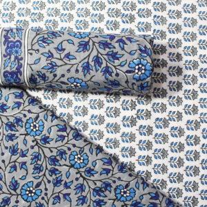 Farrukhabad Hand Block Print Cotton Dress Material Set 6B