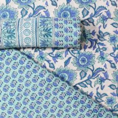 Farrukhabad Hand Block Print Cotton Dress Material Set 7B