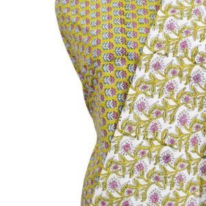 Farrukhabad Hand Block Print Cotton Dress Material Set 8A