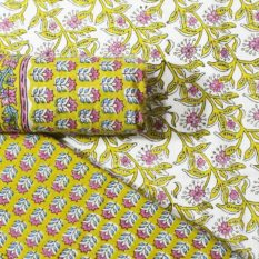 Farrukhabad Hand Block Print Cotton Dress Material Set 8B