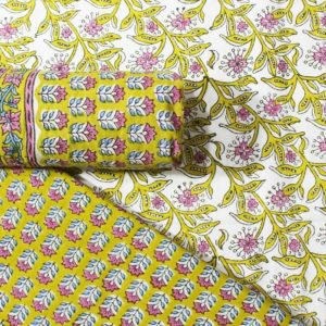 Farrukhabad Hand Block Print Cotton Dress Material Set 8B