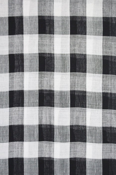 Ilkal Black & White Checks and Black Pallu Cotton-Silk Saree A4