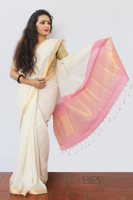Mangalgiri Saree With Nizam Border 1