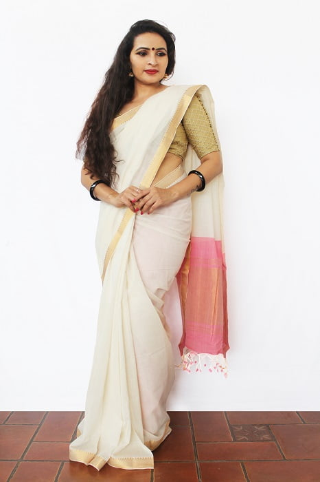 Mangalgiri Saree With Nizam Border 4