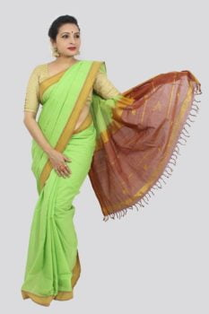 Udupi Light Green Pure Cotton Saree 1