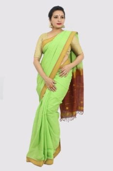 Udupi Light Green Pure Cotton Saree 3