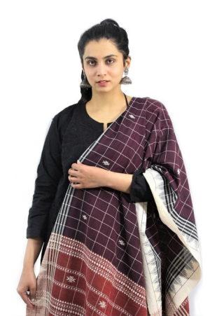 Kotpad Handloom Pure Cotton Dupatta 1B