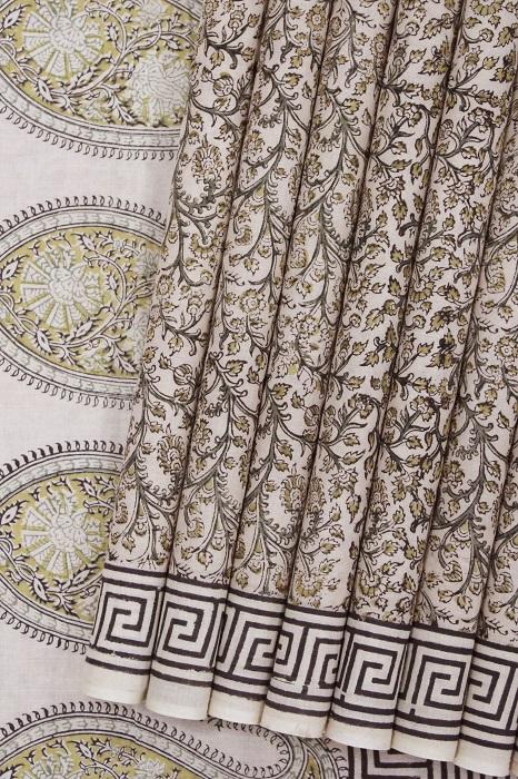 Pure Cotton Hand Printed Sarees 24a