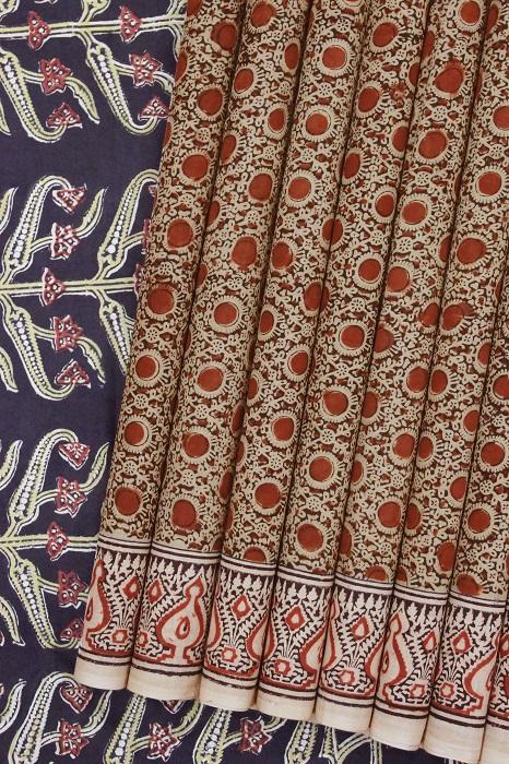 block print sarees online shopping a
