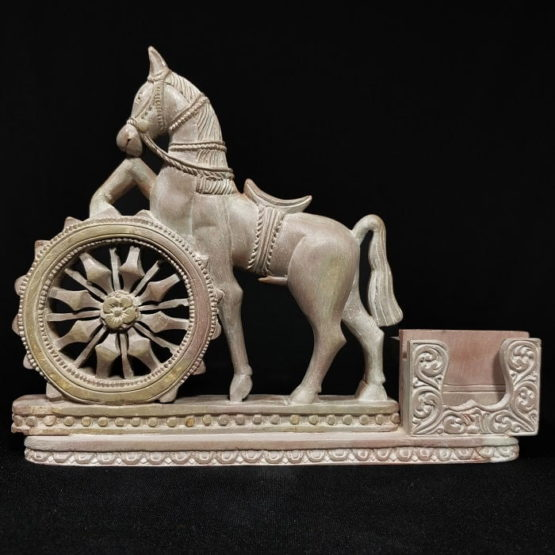 Konark stone carving horse statue 1