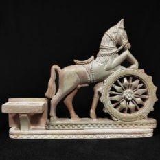 Konark stone carving horse statue 2