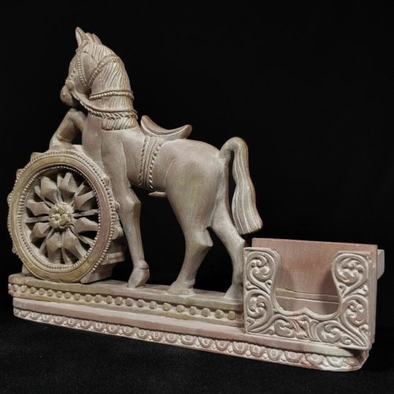 Konark stone carving horse statue 3