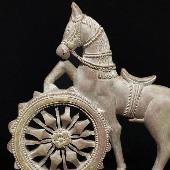 Konark stone carving horse statue 4
