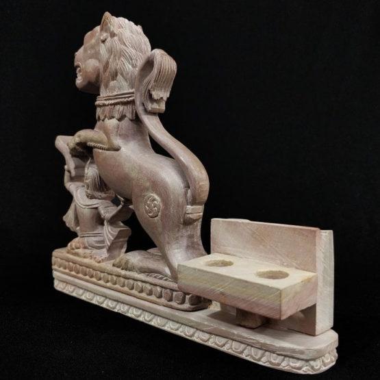 stone lion statue pen stand 3
