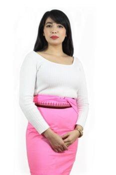 Moirang Phee Pink Long Skirt 1