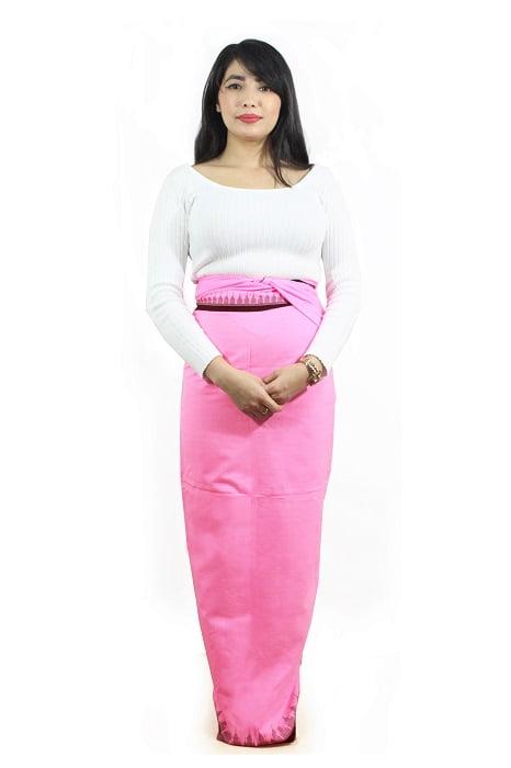 Moirang Phee Pink Long Skirt 2