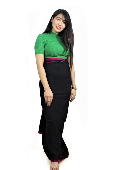 moirang phee black long skirt 2