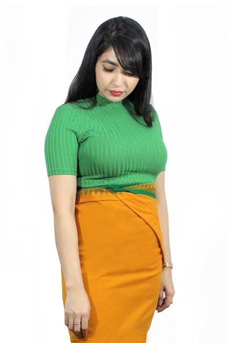 moirang phee golden long skirt 1