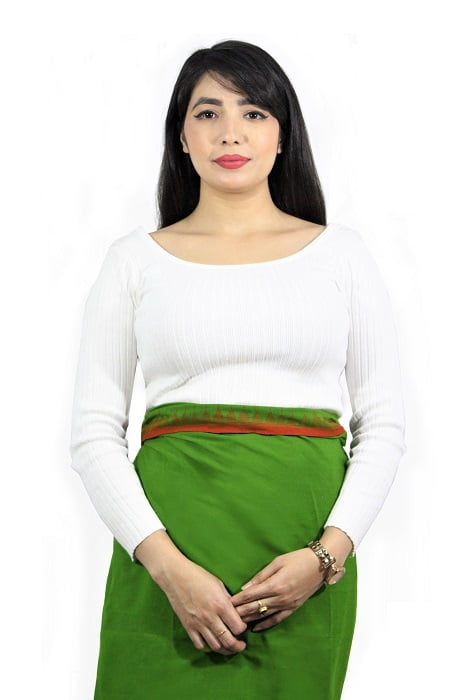 moirang phee green long skirt 1