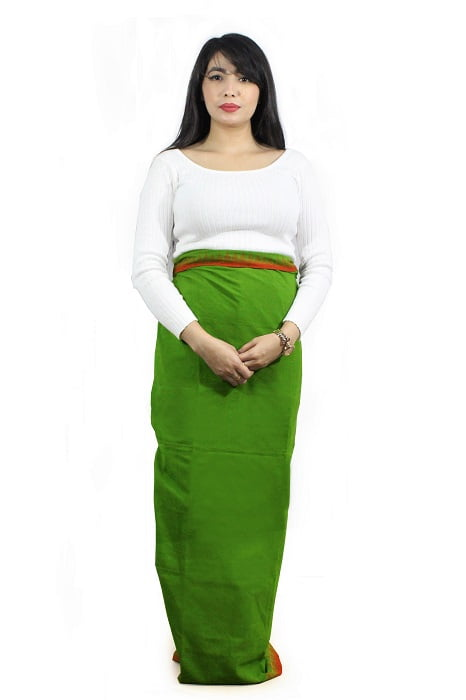 moirang phee green long skirt 2