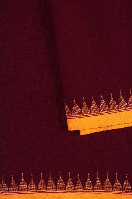 moirang phee maroon long skirt 3