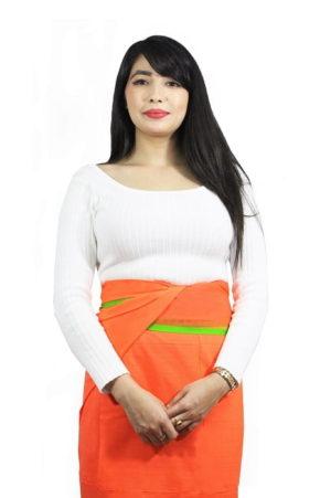 moirang phee orange long skirt 1
