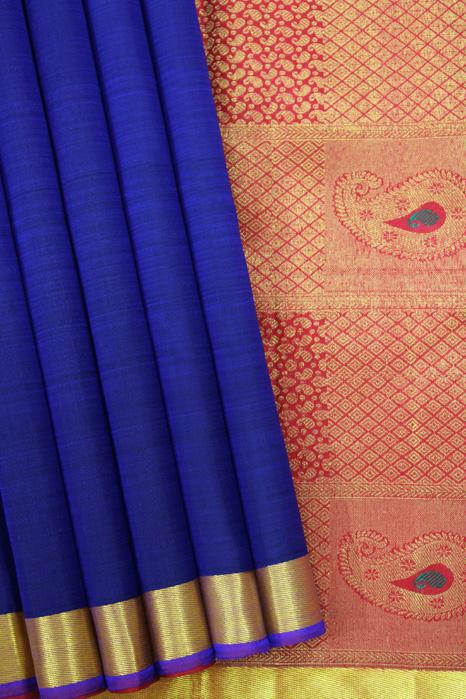 Kancheepuram Pure Silk Patli Pallu Saree (1)