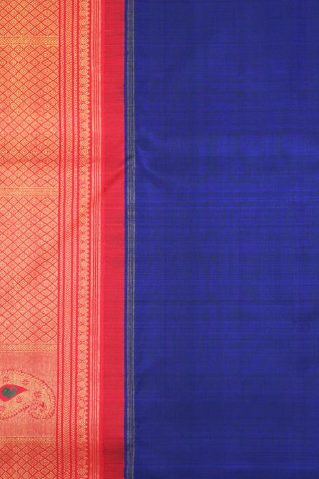 Kancheepuram Pure Silk Patli Pallu Saree (3)