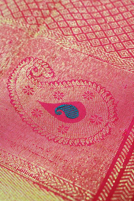 Kancheepuram Pure Silk Patli Pallu Saree (7)