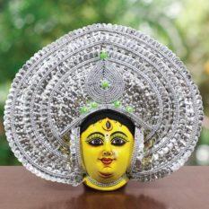 Silver Devi Chau Mask Leaf Design (1)