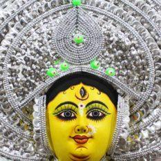 Silver Devi Chau Mask Leaf Design (2)