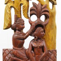 Bastar Wooden Dancing Lady Art 2