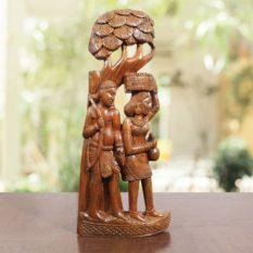Bastar Wooden Farmer Artwork 1