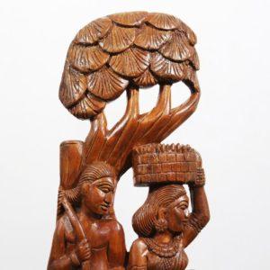 Bastar Wooden Farmer Artwork 2