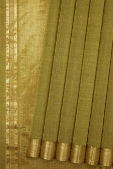 Managagiri Green Pure Cotton Sari (1)