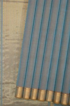 Mangalagiri Blue Cotton saree (1)