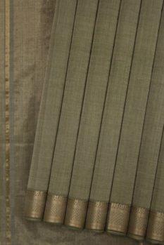 Mangalagiri Grey Cotton Saree (1)