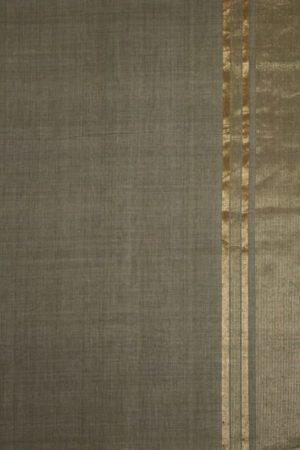 Mangalagiri Grey Cotton Saree (2)